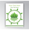 green white beautiful cover circle label flayer vector image vector image