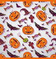 halloween sketches background hand drawn vector image