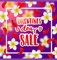hand drawn calligraphy valentines day sale vector image vector image