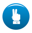 hand hey icon blue vector image vector image