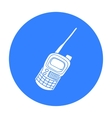 Handheld transceiver icon in outline style vector image vector image
