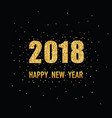 happy new year golden glitter background vector image vector image