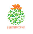 Happy saint patrick s day scatter shamrock card
