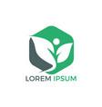 health human logo design green life logo vector image