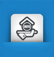 hotel icon info vector image