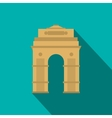 india gate new delhi india icon flat style vector image