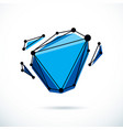isometric abstract low poly shape communication vector image vector image
