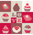 Love cupcakes vector image vector image