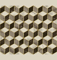 marble mosaic seamless pattern with cube 3d effect vector image vector image