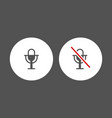 microphone audio icon for social media and music vector image