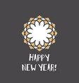 new year greeting card with geometric ornament and vector image vector image