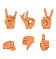 nonverbal communication by hand gesturing set on vector image vector image