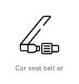 outline car seat belt or safety belt icon vector image vector image