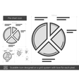 Pie chart line icon vector image vector image