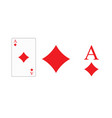 playing card ace diamonds for printing vector image vector image