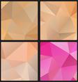 Polygon color set vector image vector image