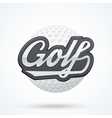 Premium Golf label vector image vector image