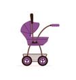 purple bapram or stroller safe handle vector image vector image