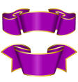 purple ribbon collection vector image vector image