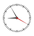 round office clock on white stock vector image vector image