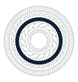 Round rope elements frames borders vector image vector image