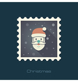 Santa Claus face Christmas stamp vector image vector image