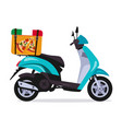 scooter motorbike vector image vector image
