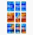 set of brochure design template vector image vector image