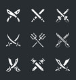 set of crossed arms icons vector image vector image