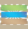 simple star banners vector image vector image