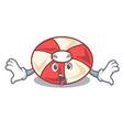 surprised swim tube mascot cartoon vector image vector image