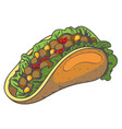 taco logo traditional mexican cuisine vector image