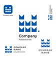 technological construction logo modern m letter vector image