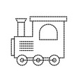 train toy children locomotive miniature vector image vector image