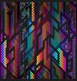 vibrant geometric seamless texture vector image vector image