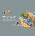 warehouse isometric 3d of vector image
