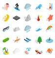 water hangout icons set isometric style vector image vector image