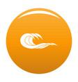 wave splashing icon orange vector image vector image