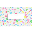 white tag on colorful geometric shape texture vector image vector image