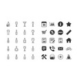 wine bottles line icons set craft beer vector image vector image