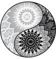 yin yang decorative symbol vector image vector image