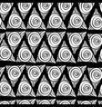 spiral doodle seamless pattern hand drawing vector image