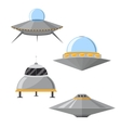 Cartoon Ufo Set vector image