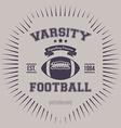Varsity College Print vector image