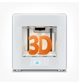 3d printer vector image vector image