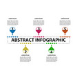 abstract business infographic vector image vector image