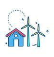 air turbine icon design vector image