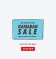 best offer ramadan sale banner vector image