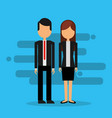 business couple avatar character vector image vector image