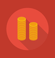 business flat icon coin vector image vector image
